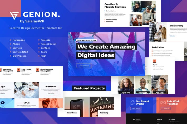 Genion | Kreatives & Design Elementor Template Kit