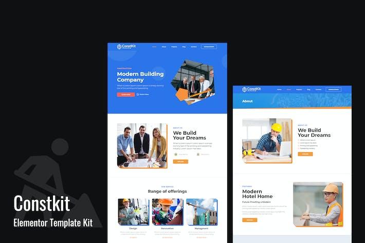 Constkit - Konstruktion und Industrie Elementor Vorlage