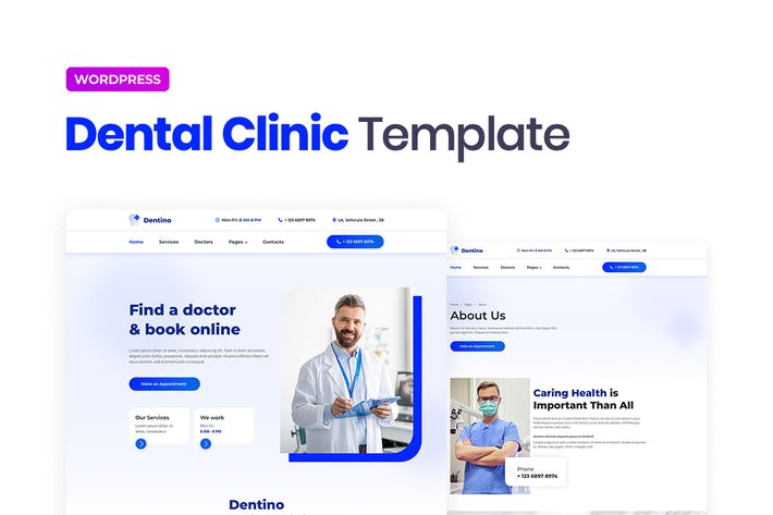 Thumbnail for Dentino – Dental Clinic Template Kit