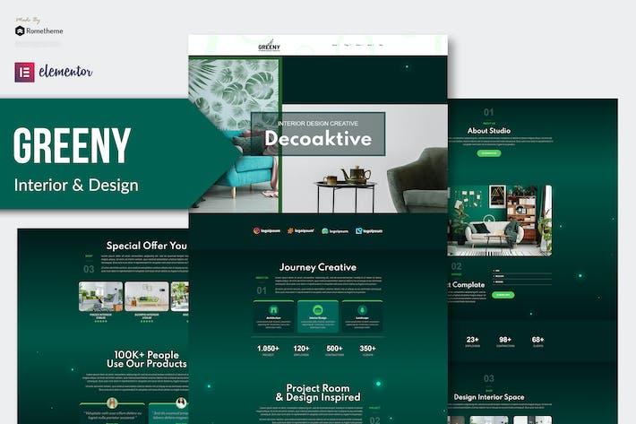 Thumbnail for Greeny - Interior Elementor Template Kit