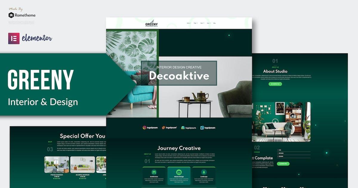 Download Greeny - Interior Elementor Template Kit by Rometheme