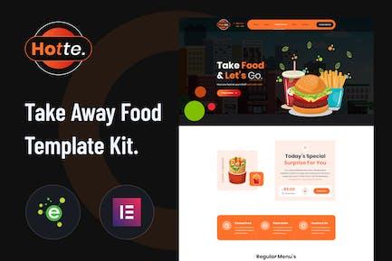 Hotte - Take Away Food Elementor Template Kit