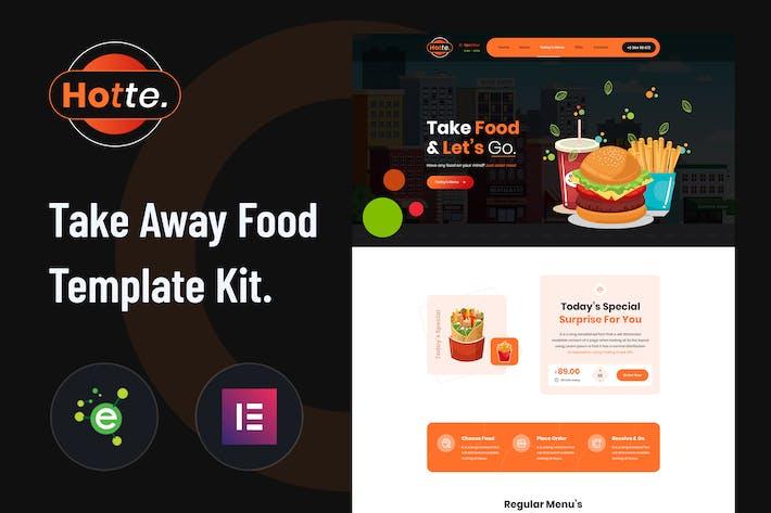 Hotte - Lebensmittel Elementor Template Kit zum Mitnehmen