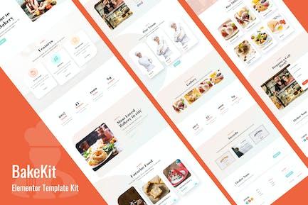 Bakekit - Lebensmittel und Kuchen Elementor Vorlage