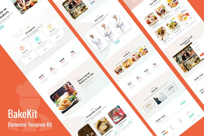 Bakekit - Food and Cake Elementor Template