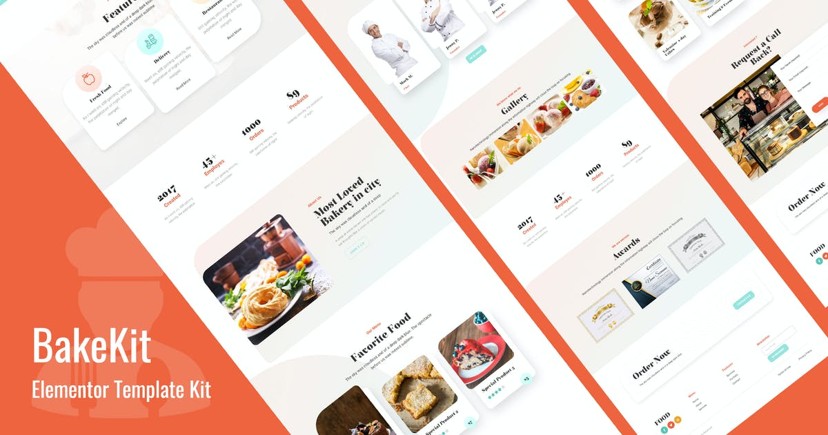 Download Bakekit - Food and Cake Elementor Template by Templatation