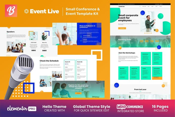Thumbnail for EventLive - Small Conference & Event Elementor Template Kit