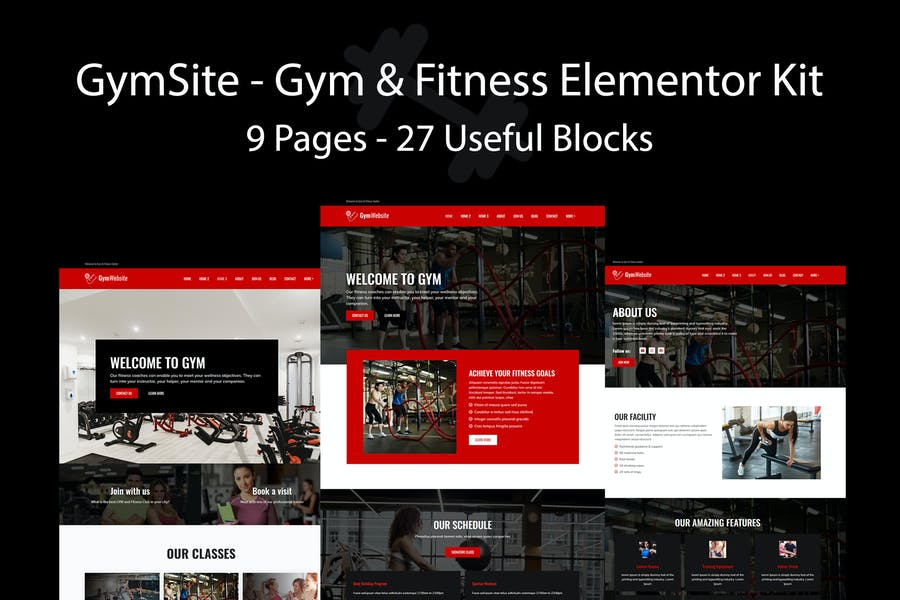 Gymsite - Gym & Fitness Elementor Template Kit