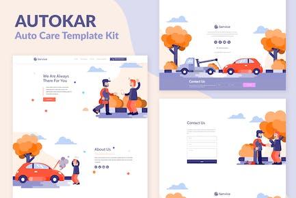 Autokar - Auto Care Elementor Template Kit