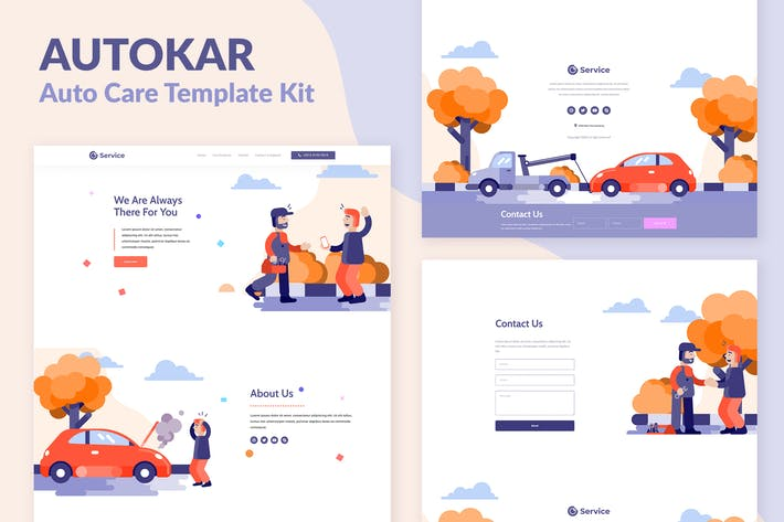 Thumbnail for Autokar - Auto Care Elementor Template Kit
