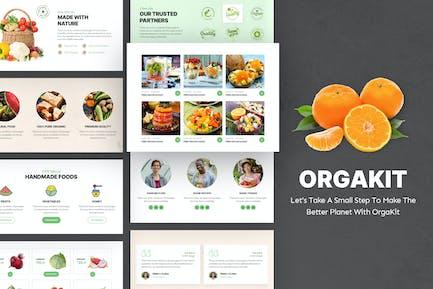 OrgaKit - Organic Farm Elementor Template Kit