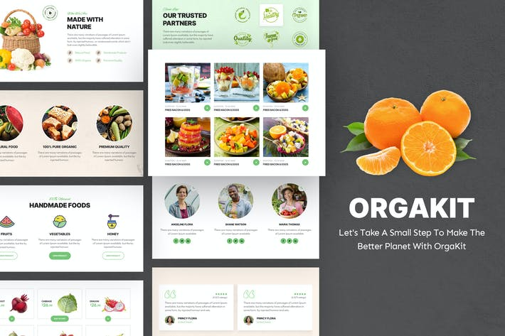 Thumbnail for OrgaKit - Bio Farm Elementor Template Kit