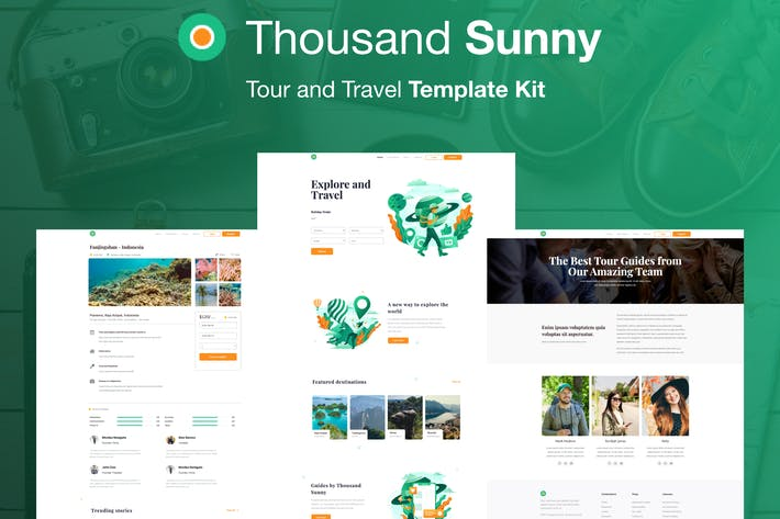 Thumbnail for Tausend Sunny - Travel Elementor Kit
