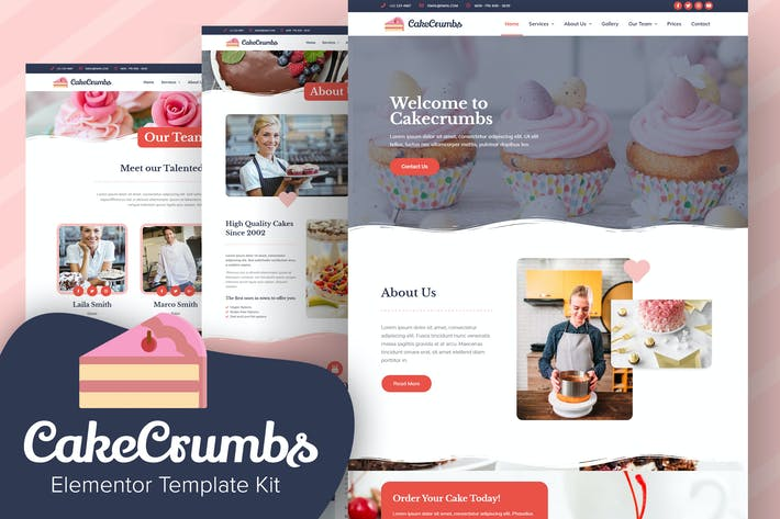 Cakecrumbs - Bakery Elementor Template kit