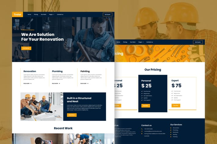 Thumbnail for Trotol - Renovation Elementor Template Kit