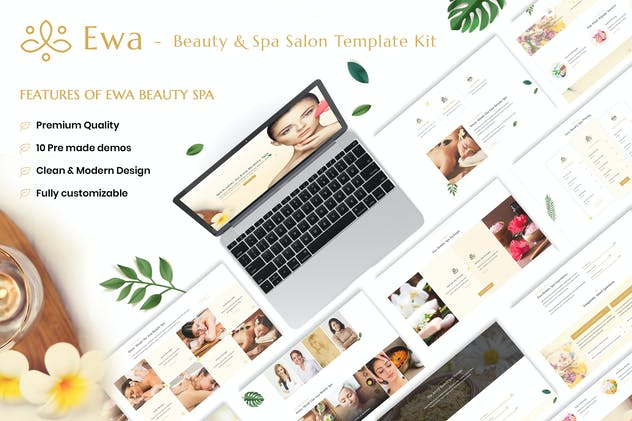 Ewa - Beauty & Spa Salon Elementor Template Kit