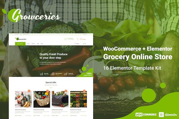 Growceries - Lebensmittel & Lebensmittelgeschäft Elementor Template Kit