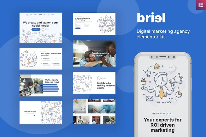 Thumbnail for Briel - Digital Marketing Agency Elementor Template Kit