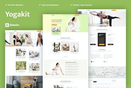 Yogakit - Yoga & Meditation Elementor Template Kit
