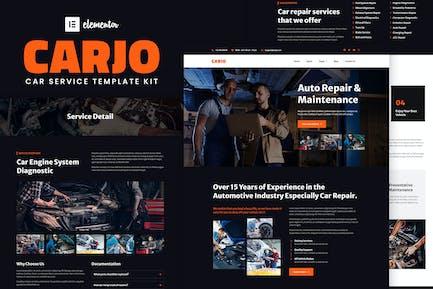 Carjo - Автомобильные услуги и ремонт Elementor Template Kit