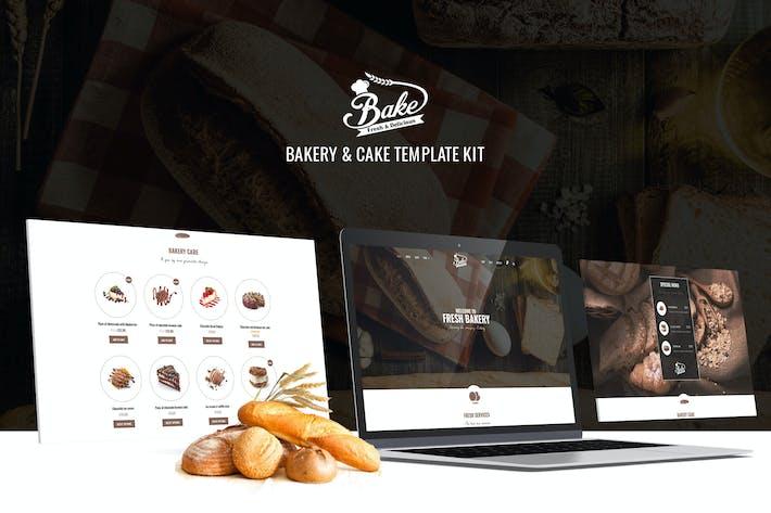Backen - Bäckerei & Kuchen Elementor Template Kit