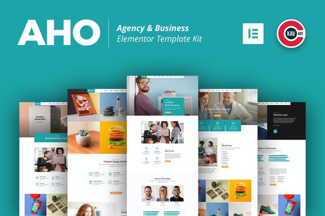 Aho - Agency & Business Elementor Template Kit
