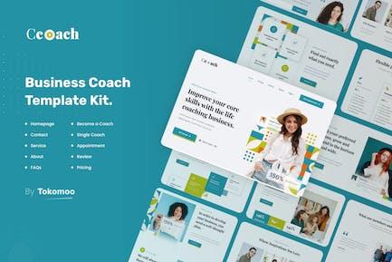 Ccoach | Business Coach Elementor Template Kit