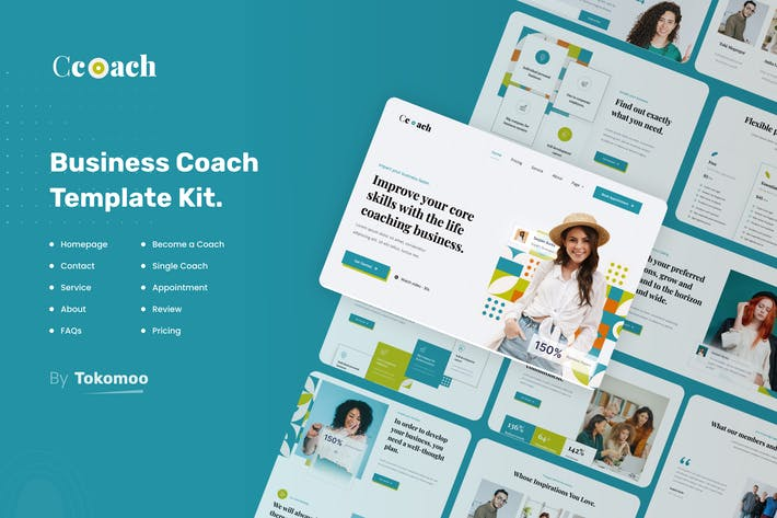 Thumbnail for Ccoach | Business Coach Elementor Template Kit