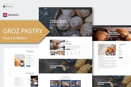 GrozPastry - Template Kit de elementos de panadería