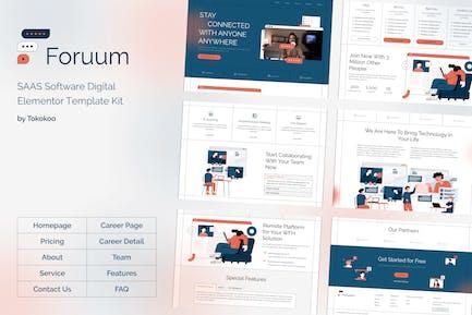 Foruum | SaaS & Software Startup Elementor Template Kit