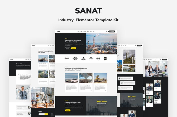 Thumbnail for Sanat - Industry Elementor Template Kit