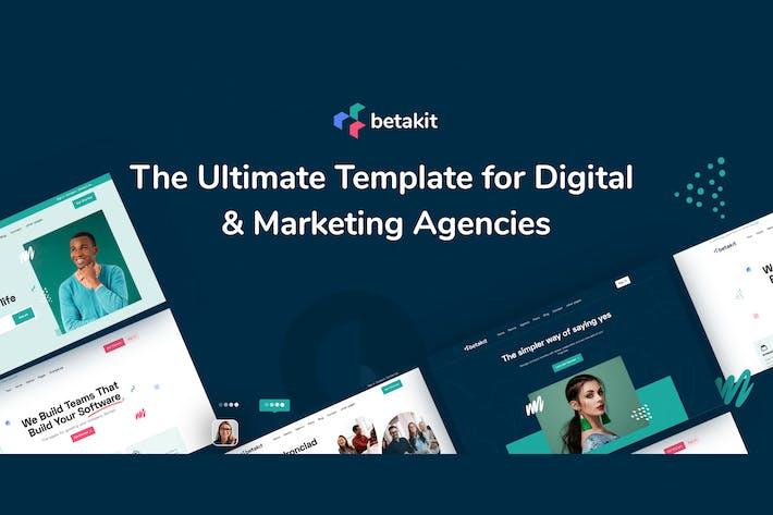 Thumbnail for Betakit - Digital & Marketing Agency Elementor Kit