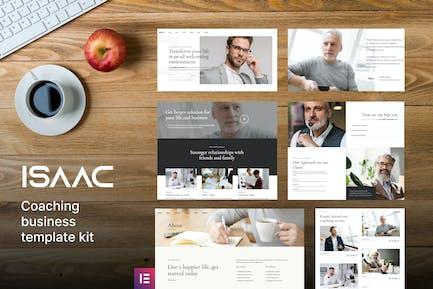 Isaac - Business Coaching Elementor Template Kit