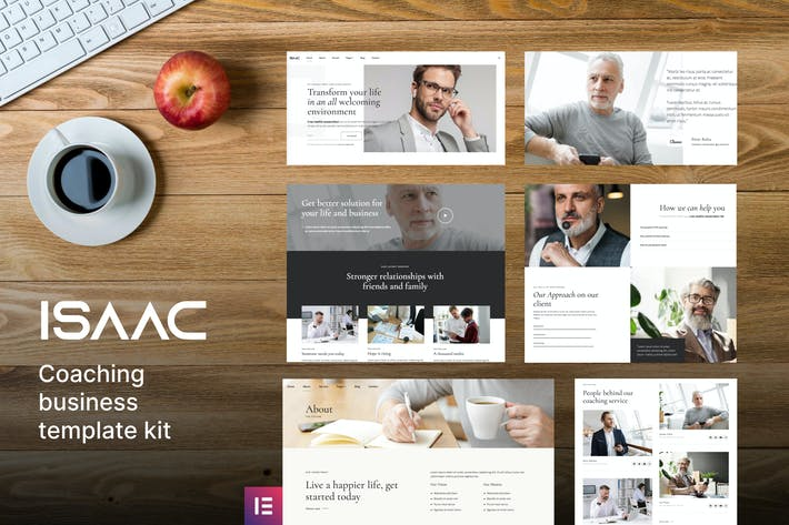 Thumbnail for Isaac - Business Coaching Elementor Template Kit