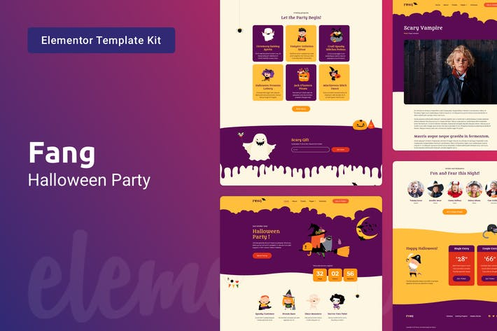 Thumbnail for Fang — Halloween Party Template Kit for Elementor