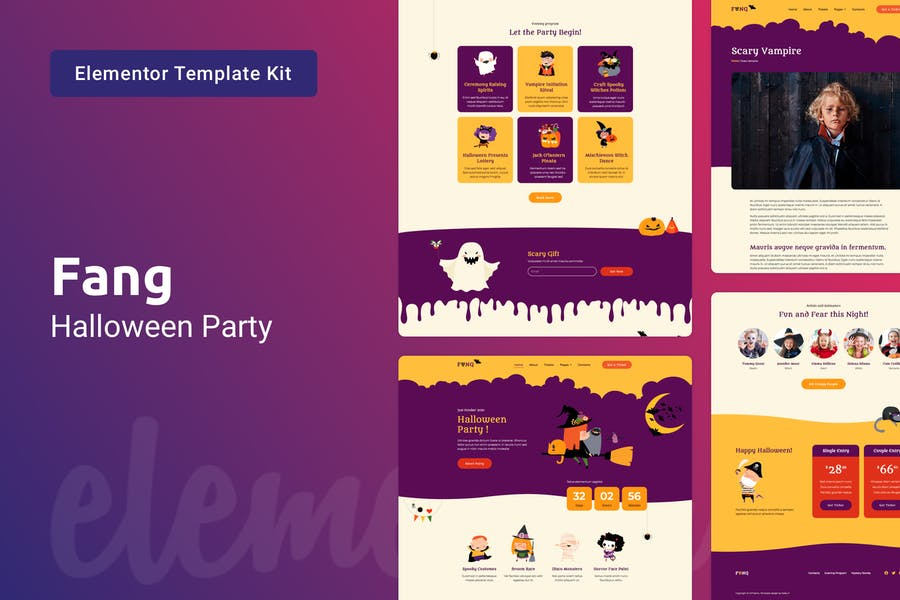 Fang - Template Kit para fiesta de Halloween
