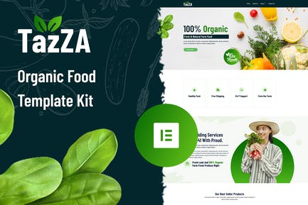 TazZA - Organic Food Elementor Template Kit