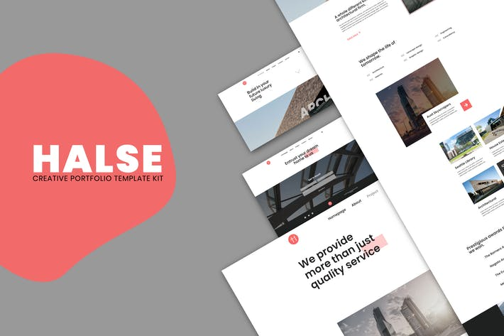 Halse - Architektur & Innenarchitektur Elementor Template Kit