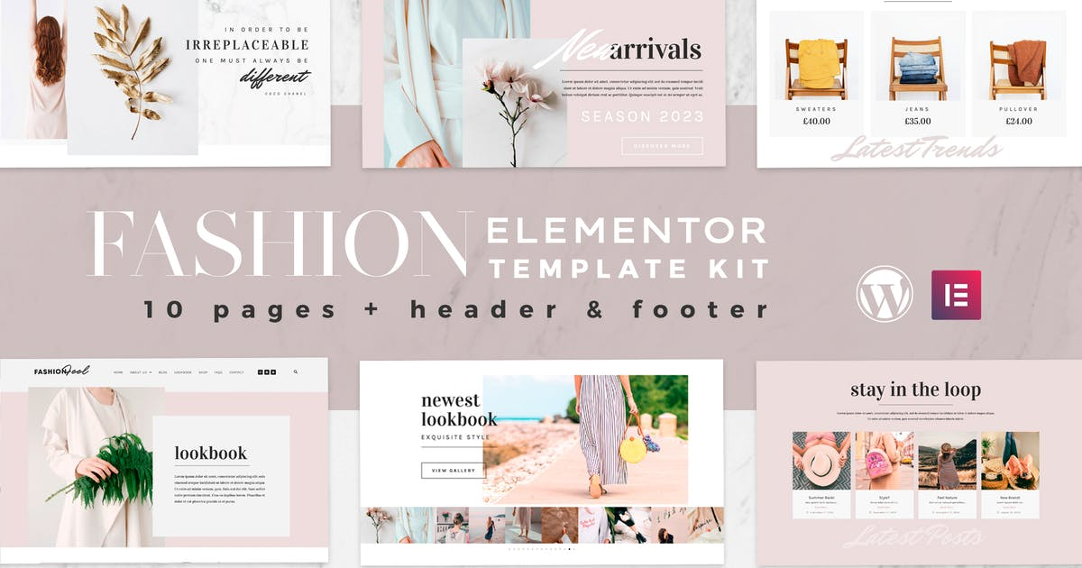 Download Fashion Feel - WooCommerce Elementor Template Kit by touringxx