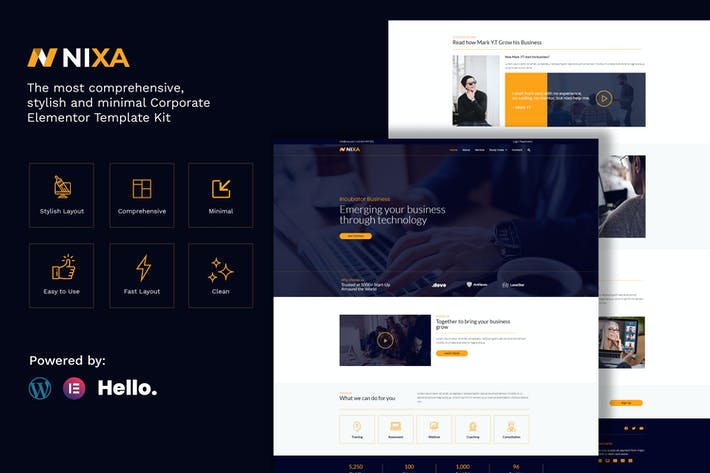 Nixa - Business & Services Elementor Template Kit