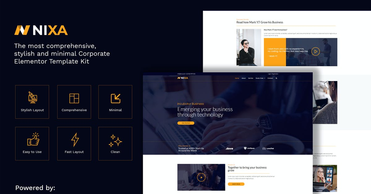 Download Nixa - Business & Services Elementor Template Kit by Shakersign