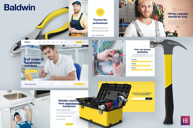 Baldwin - Handyman & Repair Services Elementor Template Kit
