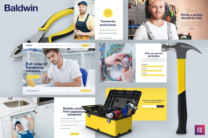 Thumbnail for Baldwin - Handyman & Repair Services Elementor Template Kit