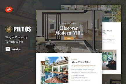 Piltos - Single Property Elementor Template Kit