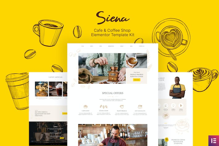 Thumbnail for Siena - Cafe and Coffee Shop Template Kit