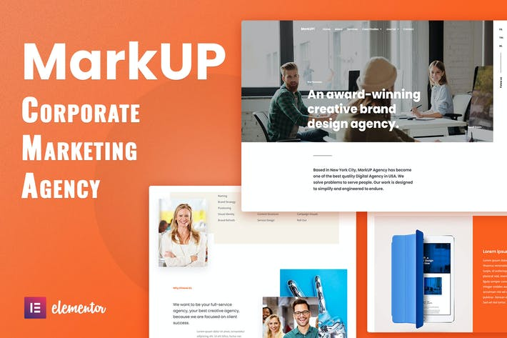 MarkUP - Corporate & Marketing Agency Elementor Template Kit