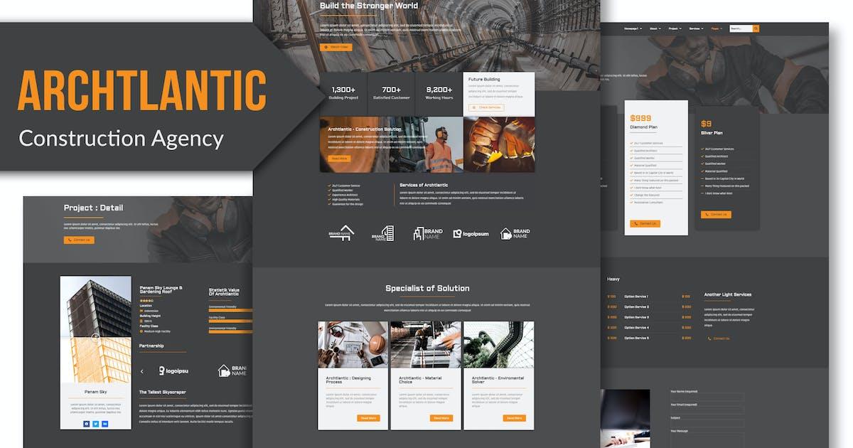 Download Archtlantic - Construction Agency Elementor Template Kit by Rometheme