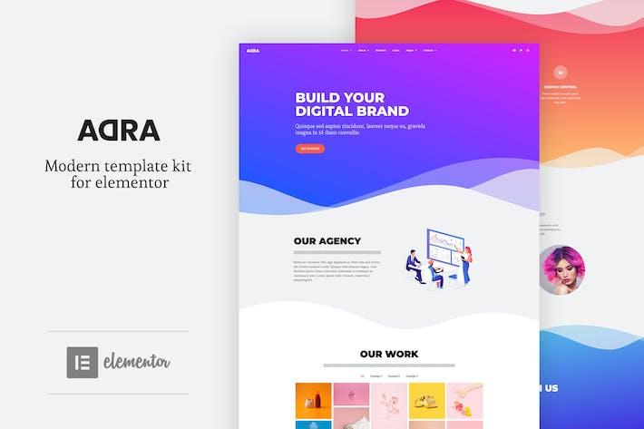 Thumbnail for Adra - Modern & Creative Elementor Template Kit