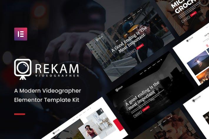 Thumbnail for Rekam Kit - Moderner Videofilmer Elementor Template Kit