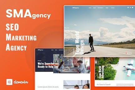 SMAgency - SEO Marketing Agency Elementor Template Kit